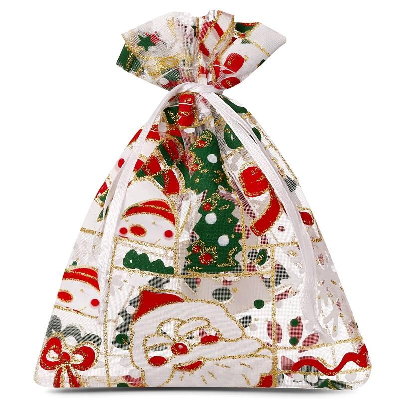 3 pz Sacchetti di organza 30 x 40 cm - Natale
