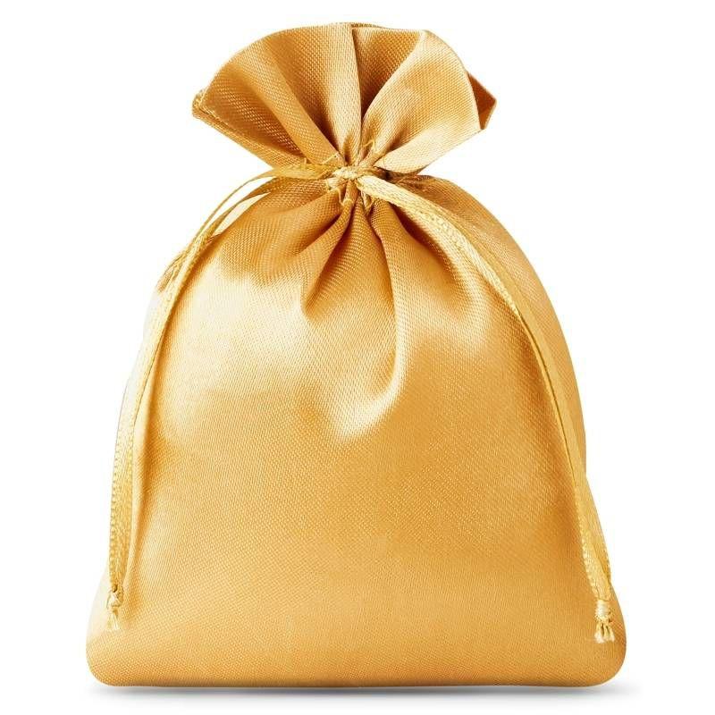 10 pz Sacchetti in raso 6 x 8 cm - oro
