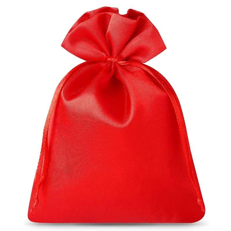10 pz Sacchetti in raso 6 x 8 cm - rosso