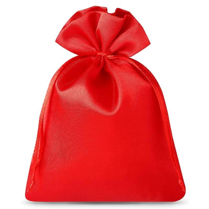 10 pz Sacchetti in raso 8 x 10 cm - rosso Sacchetti in raso