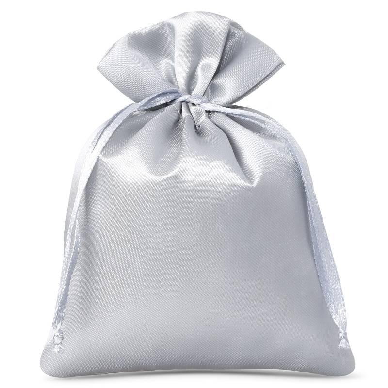 10 pz Sacchetti in raso 8 x 10 cm - argento Sacchetti in raso