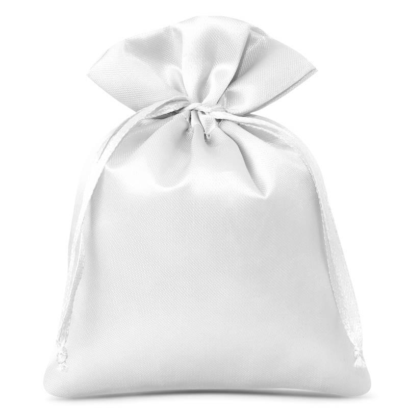 10 pz Sacchetti in raso 6 x 8 cm - bianco
