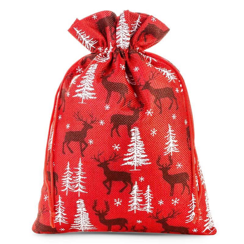 1 pz Sacchetti di juta 40 x 55 cm - naturale Sacchetto di Natale