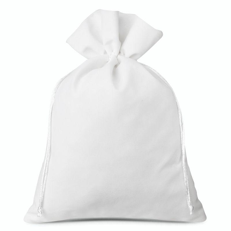 1 pz Sacchetti di velluto 30 x 40 cm - bianco