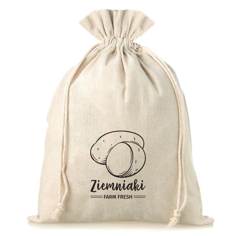 1 pz Sacchetti di lino con stampa 35 x 50 cm - per patate (PL)