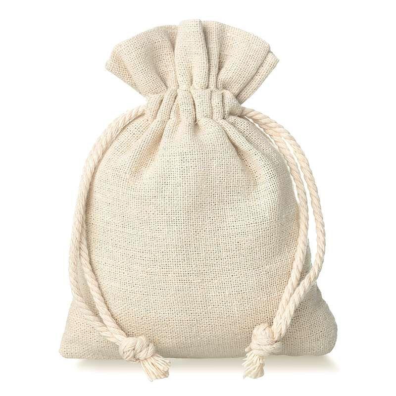 10 pz Sacchetti di lino 9 x 12 cm - naturale