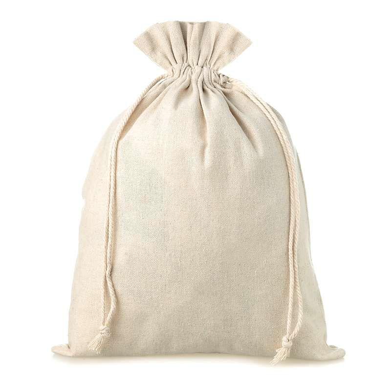 5 pz Sacchetti di lino 18 x 24 cm - naturale