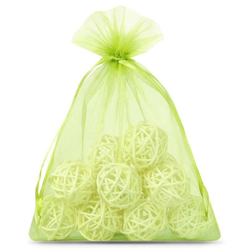 10 pz Sacchetti di organza 15 x 20 cm - verde