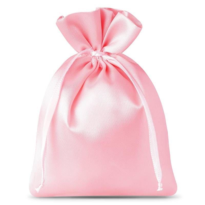 10 pz Sacchetti in raso 8 x 10 cm - rosa chiaro