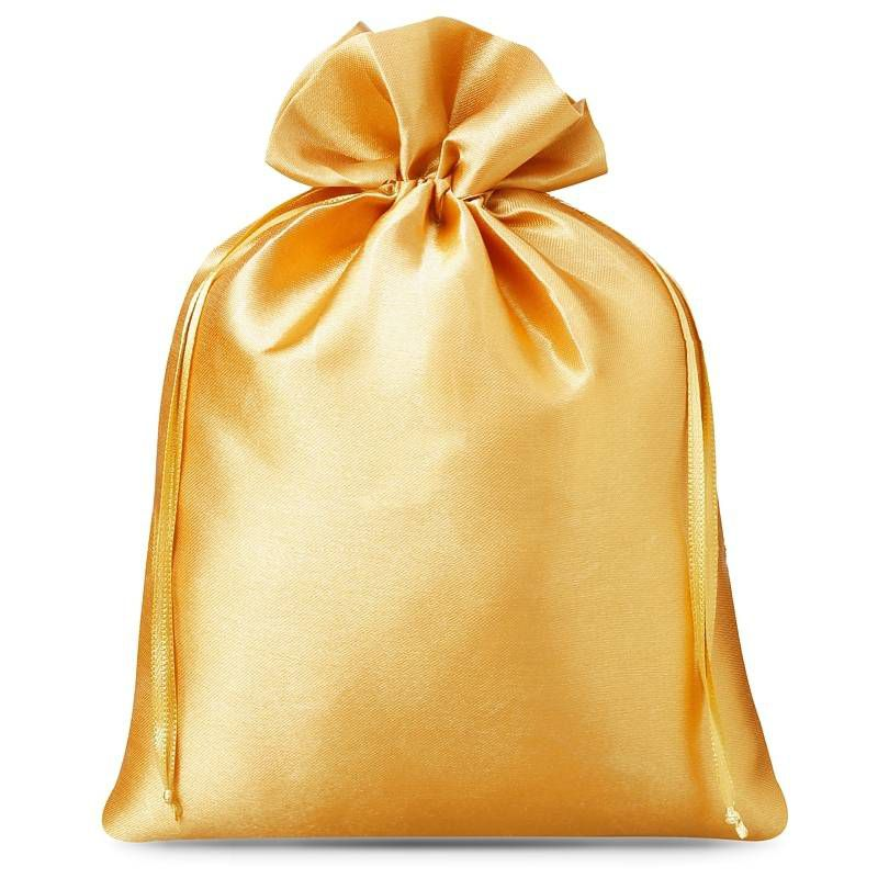 5 pz Sacchetti in raso 22 x 30 cm - oro
