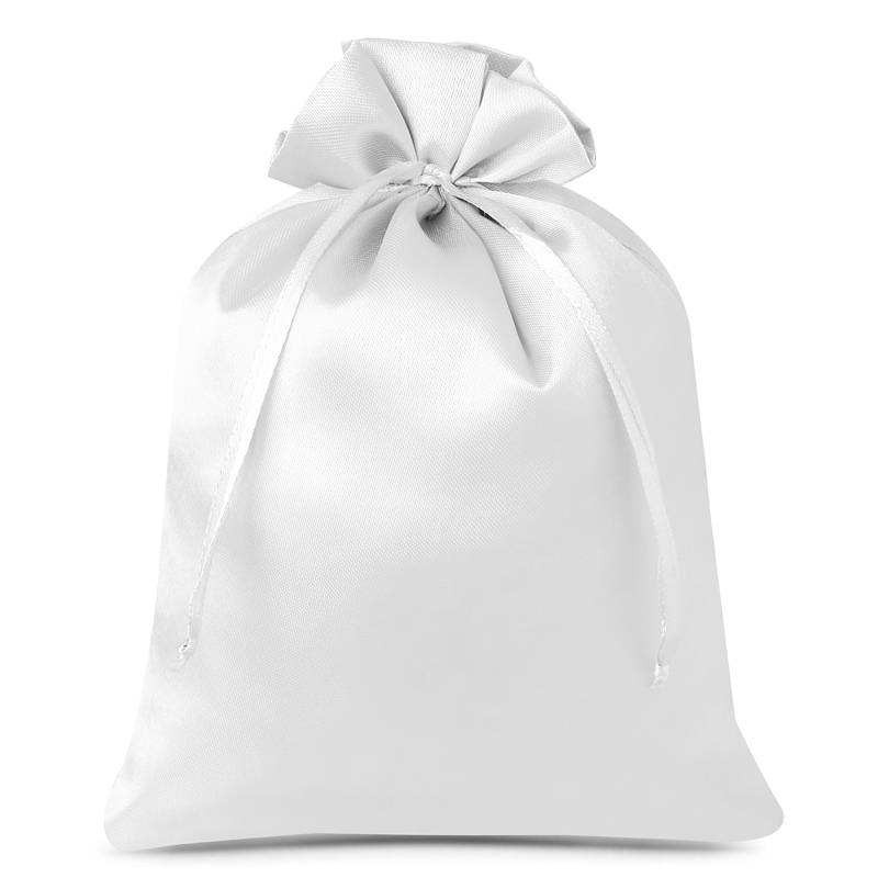 5 pz Sacchetti in raso 22 x 30 cm - bianco Sacchetti in raso