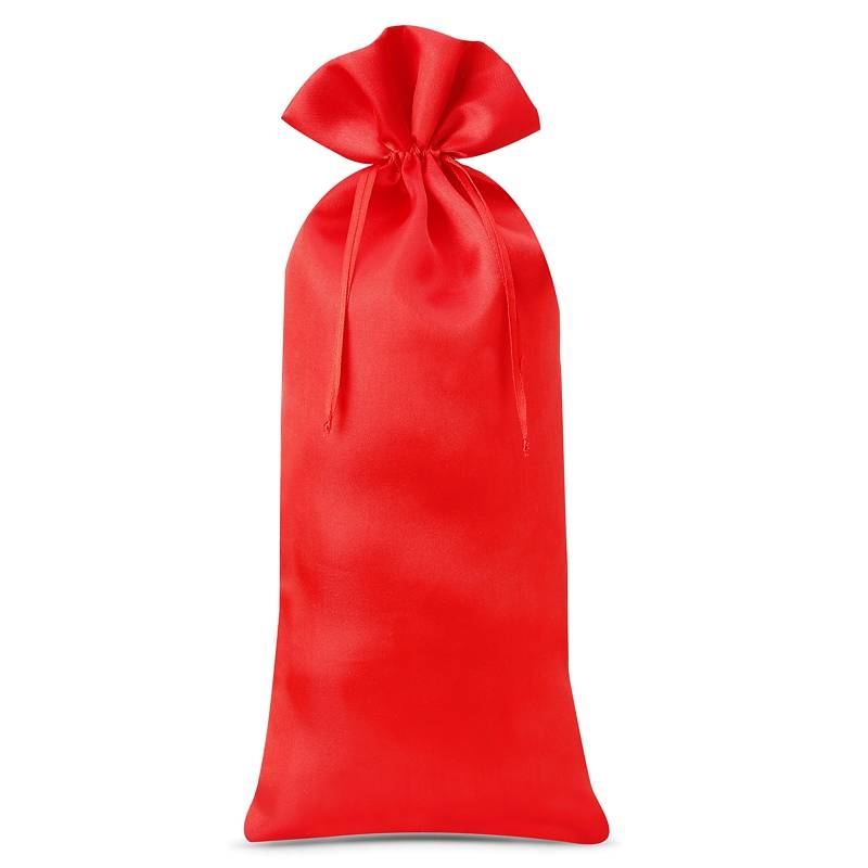 1 pz Sacchetti in raso 16 x 37 cm - rosso
