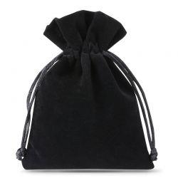 10 pz Sacchetti di velluto 10 x 13 cm - nero Sacchetti di velluto