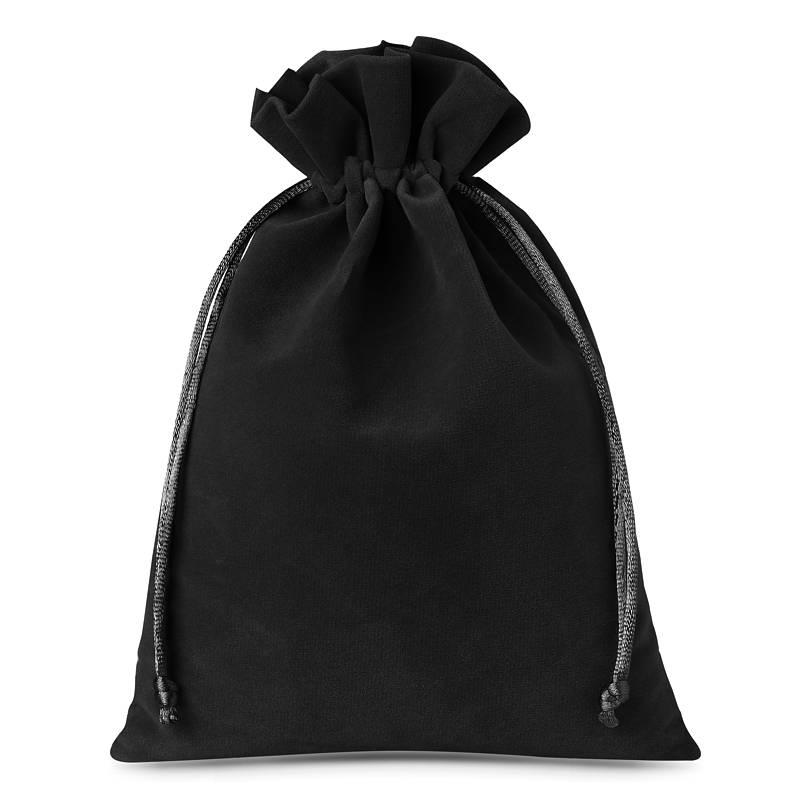 10 pz Sacchetti di velluto 12 x 15 cm - nero