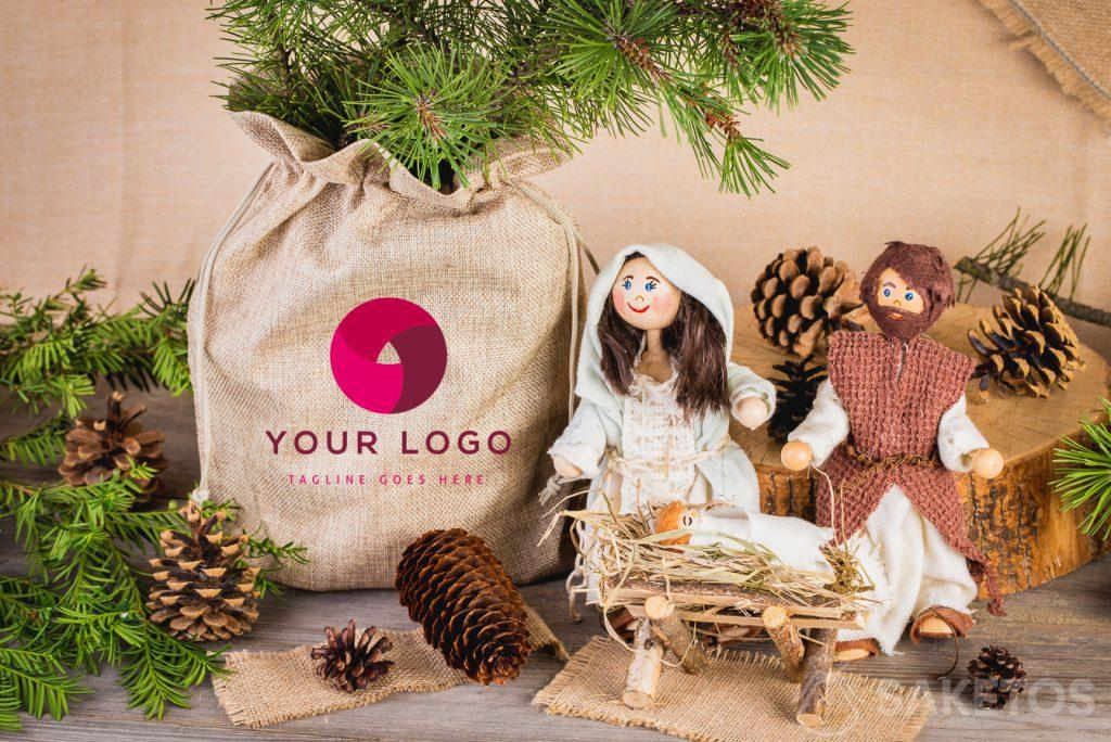 Christmassy bags con logo