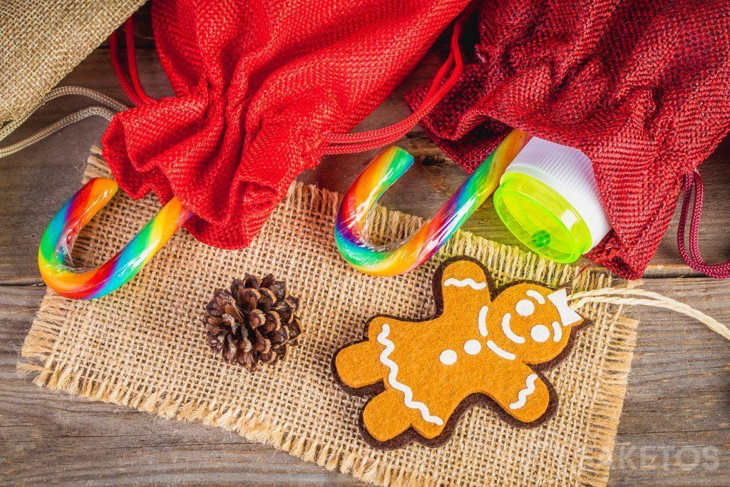 Confezioni regalo natalizie per bambini.