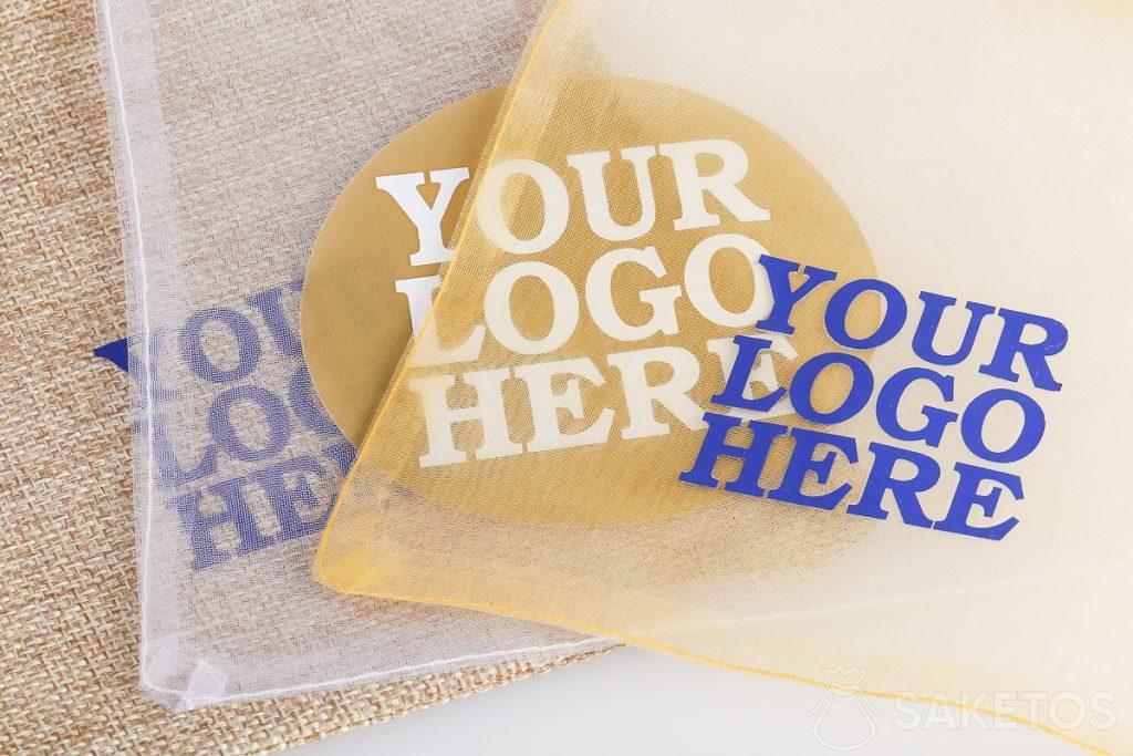 Sacchetti per gadget promozionali con logo scelto da te.