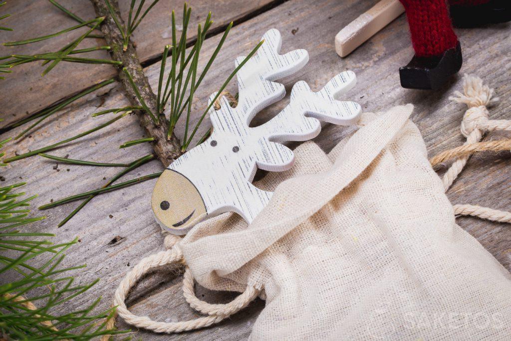I sacchetti in tessuto come decorazioni natalizie