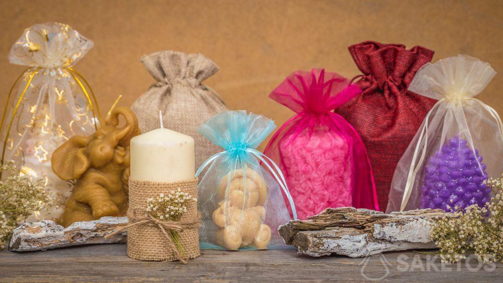 I sacchetti si abbinano perfettamente con le candele fatte a mano