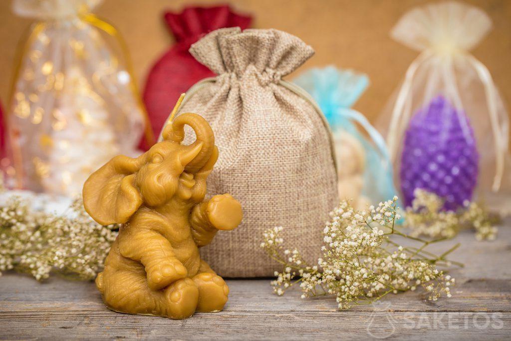 Un sacchetto di iuta è una decorazione universale