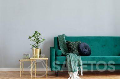 Il velour è utilizzato per l'interior design e la creazione di decorazioni per la casa