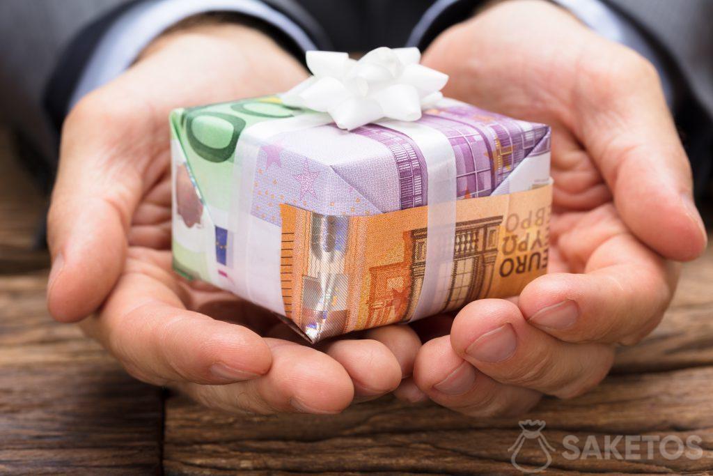 Banconote come carta da regalo