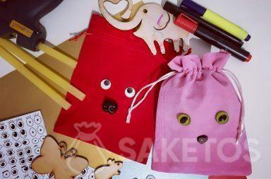 Decorazione dei sacchetti per regali - confezioni personalizzate fai-da-te