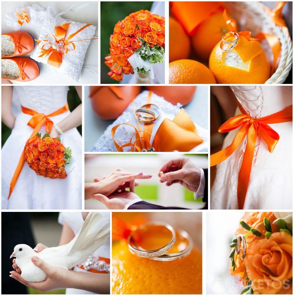 Il tema del matrimonio e del ricevimento - arancione