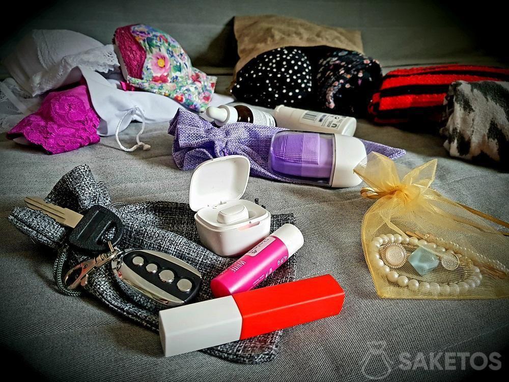 Sacchi organizer da viaggio per valigie.