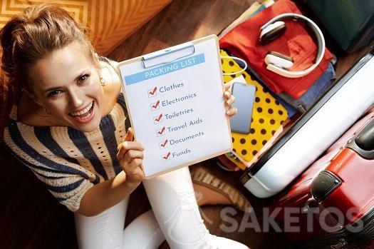 Prima di fare le valigie fai una checklist.