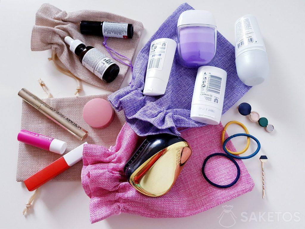 Sacchetti per trasportare cosmetici.