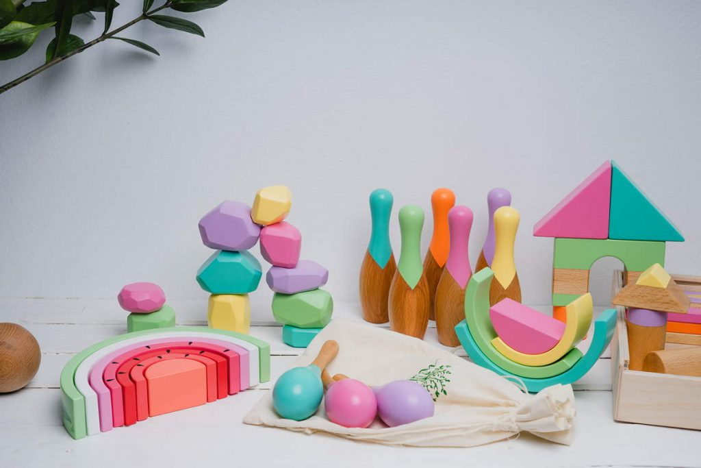 2.Giocattoli di legno per bambini