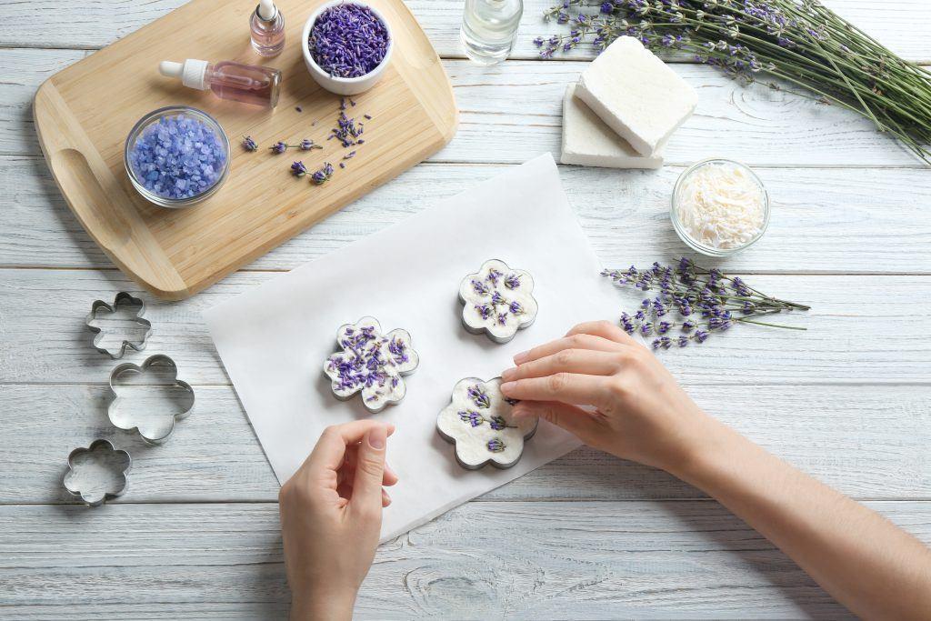 Decorazione del sapone fatto in casa