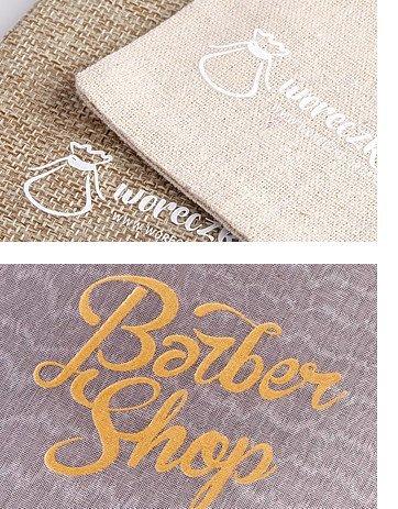 Woreczki lniane z logo